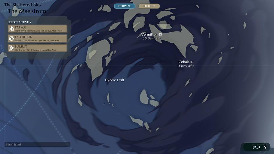 Dauntless rotierende Inseln 1