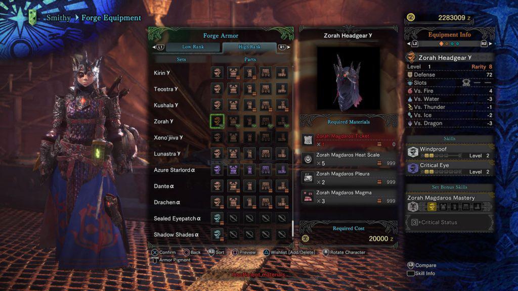 monster hunter world zorah gamma helm