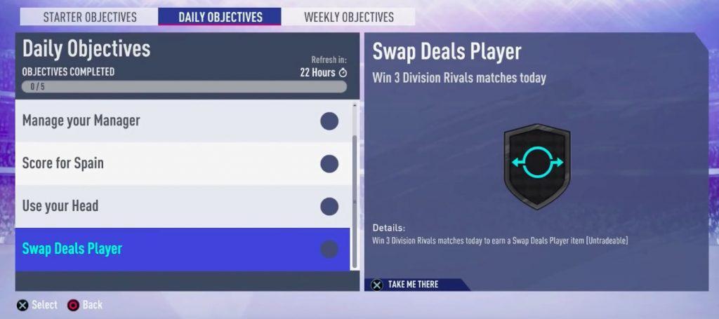FIFA 19 FUT Swap Deal Tagesziel
