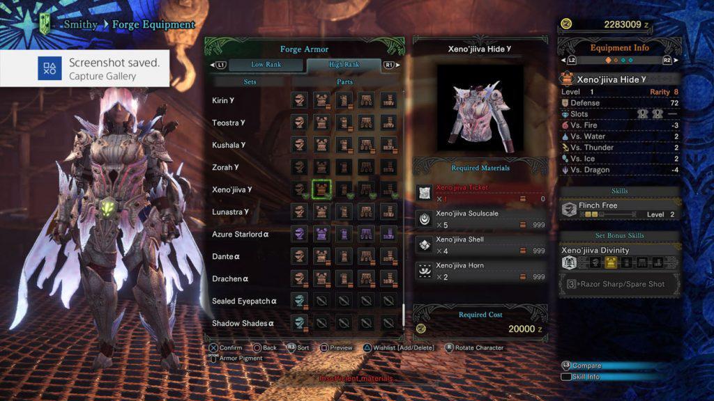monster hunter world xeno'jiiva gamma body