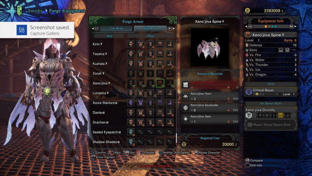 monster hunter world xeno'jiiva gamma gürtel