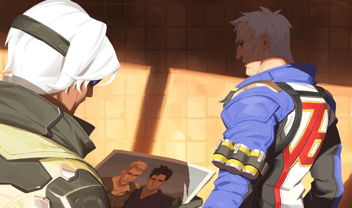 Overwatch Soldier Picture Vincent Ana Relationship