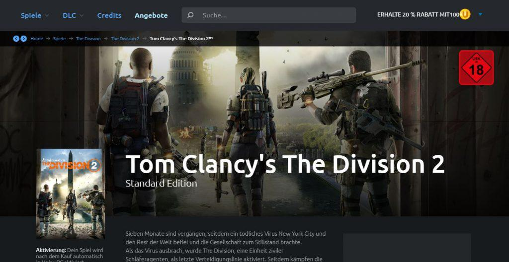 Division 2 Kauf bei uPlay