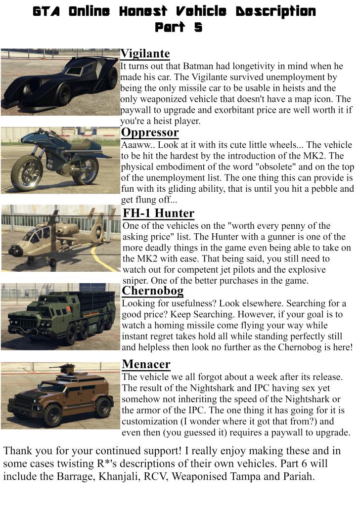 GTA 5 Online Fahrzeuge Lohnen Reddit Meme