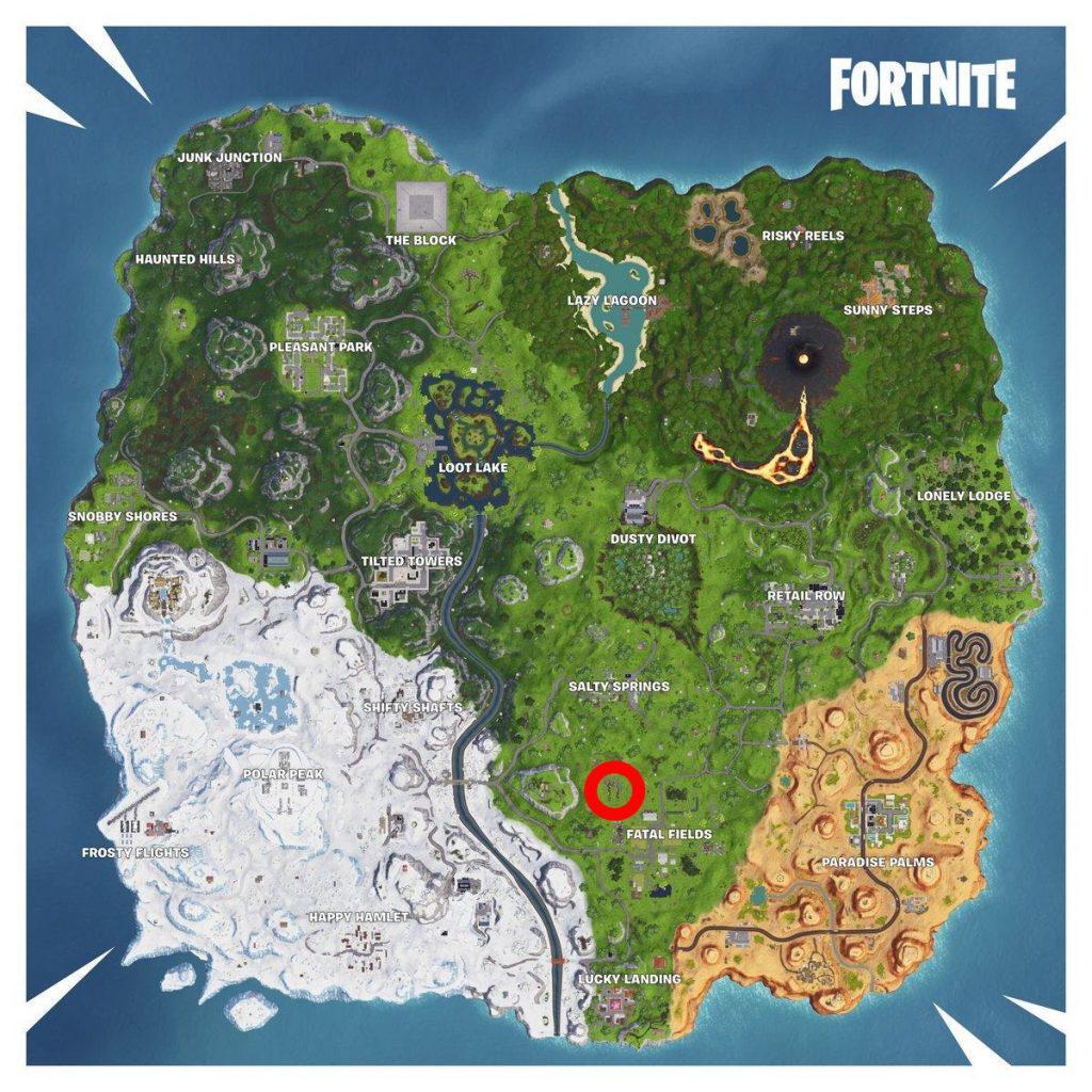 Map mit Fundort